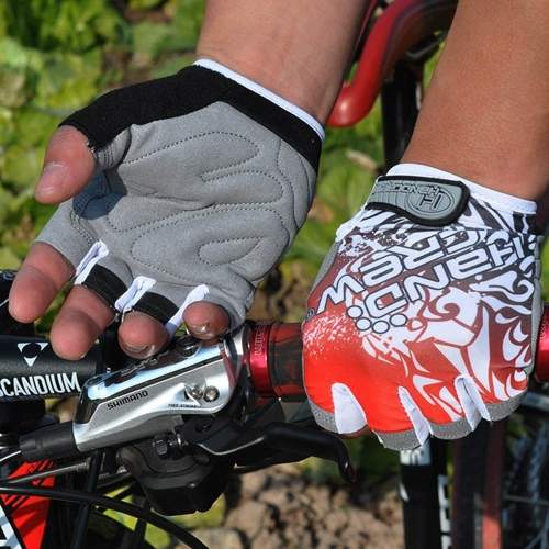 Sports Gloves Half Finger Racing Riding Road Bike Motor Cycling Bicycle Red XL
