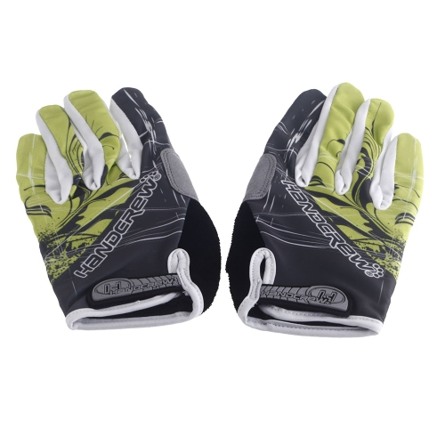 Sports Gloves Full Finger Racing Riding Road Bike Motor Cycling Bicycle GEL Silicone Green XL