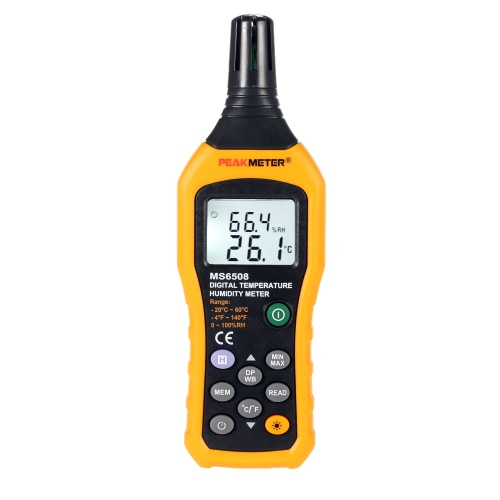 PEAKMETER MS6508 Digital Temperature Humidity Meter