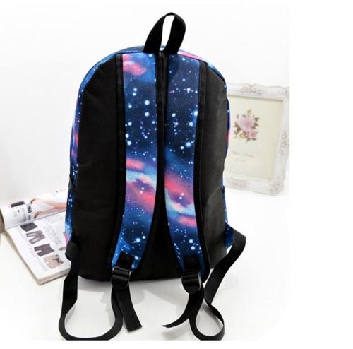 49937da255a3 Anself Women Girl Canvas Bag Galaxy Print Cosmic Space Backpacks Schoolbag  Travelling Backpack