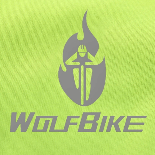 WOLFBIKE Fleece Thermal Cycling Long Sleeve Jersey Winter Outdoor Sports Jacket Windproof Wind Coat Bicycle Cycle Wear Clothing L Image