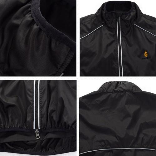 WOLFBIKE Cycling Jersey Men Riding Breathable Jacket Cycle Clothing Bike Long Sleeve Wind Coat Black 3XL Image