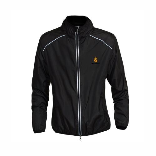 Giacca ciclismo antivento traspirante manica lunga camicia Colore nero taglia XL