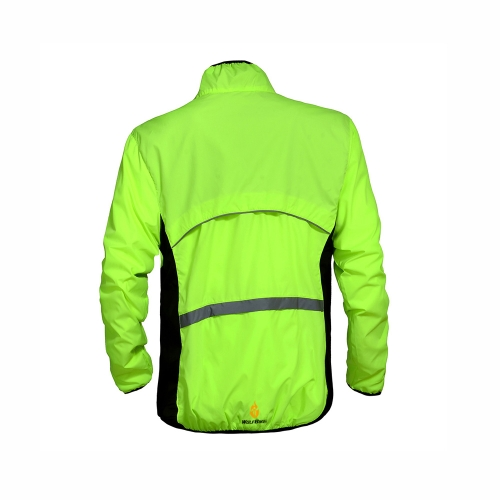 WOLFBIKE Cycling Jersey Men Riding Breathable Jacket Cycle Clothing Bike Long Sleeve Wind Coat Green L Image