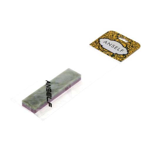 Anself 3000 # / 10000 # Piedra de cuchillo de grano de rubí y ágata natural de doble lado de combinación de whetstone piedra de cuchillo afilado muela de 100 * 25 * 10mm