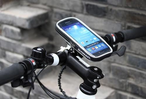 ROSWHEEL ciclismo bici biciclette protezione manubrio borsa custodia in PVC trasparente Touchable per 4,8