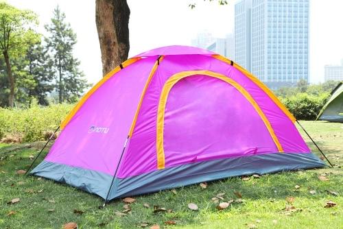 Tragbare Camping Zelt für 2 Personen Wasserdicht UV-beständig Outdoor Reisen Strand lila