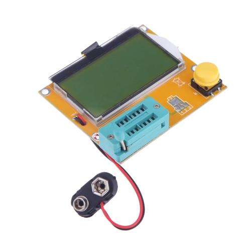 128 * 64 amarelo-verde LCD Backlight ESR Medidor LCR led Transistor Tester