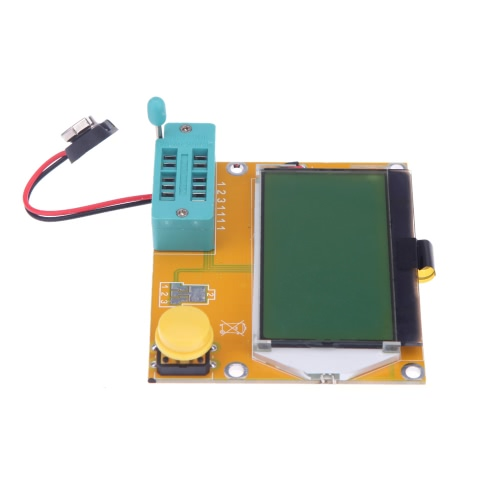 128*64 yellow-green LCD Backlight ESR Meter LCR led Transistor Tester