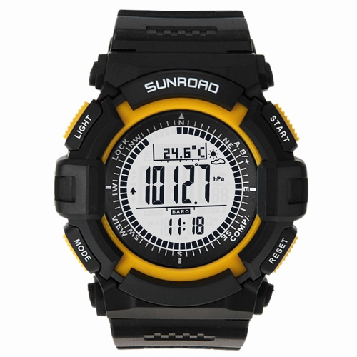 Sunroad FR820A 3ATM Waterproof Altimeter Compass Stopwatch Fishing Barometer Pedometer Outdoor Sports Watch Multifunction