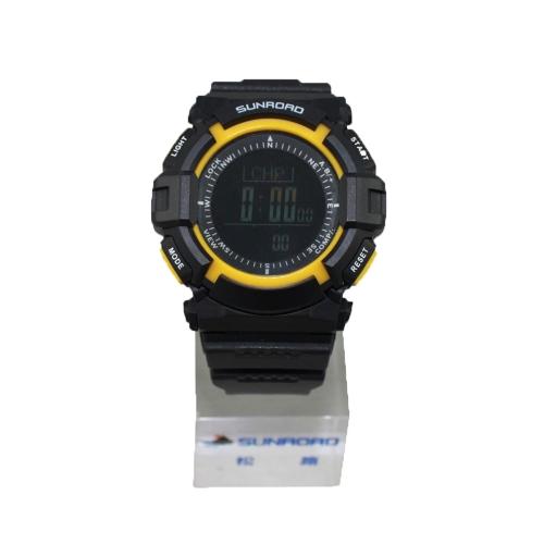 Sunroad FR820B 3ATM impermeable altímetro brújula cronómetro pesca barómetro podómetro deportes al aire libre reloj multifunción