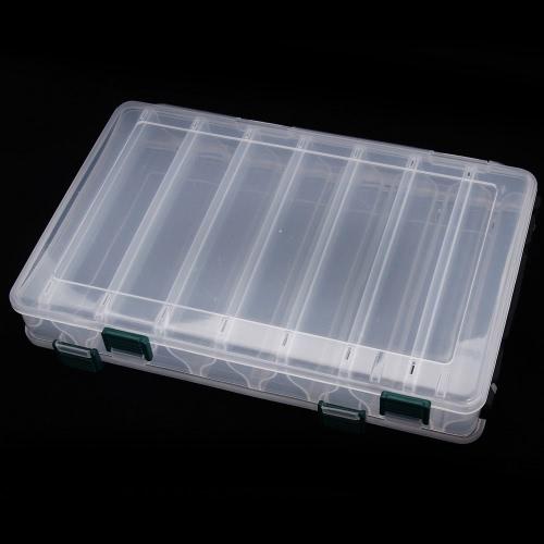27 * 18 * 4.7cm  Angelköder Box  14 Fächer mit Ablaufloch Fischprogramme