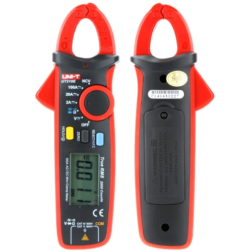 UNI-T UT210E True RMS AC / DC-Strom tragbare Mini-Hand-LCD Diaplay Digital-Clamp Meter w / Kapazität Tester