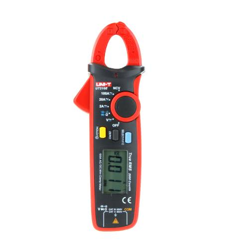 KKmoon UNI-T UT210E Mini Digital Handheld Clamp Multimeter Backlight LCD True RMS Voltmeter Ammeter Ohmmeter AC/DC Voltage Current Capacitance Resistance NCV Continuity Test Diode Tester with Storage Bag