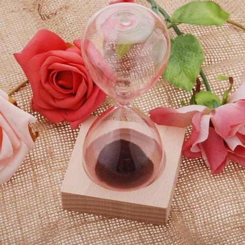 1pcs Magnet Hourglass Awaglass Hand-blown Timer Desktop Decoration Magnetic Hourglass Red