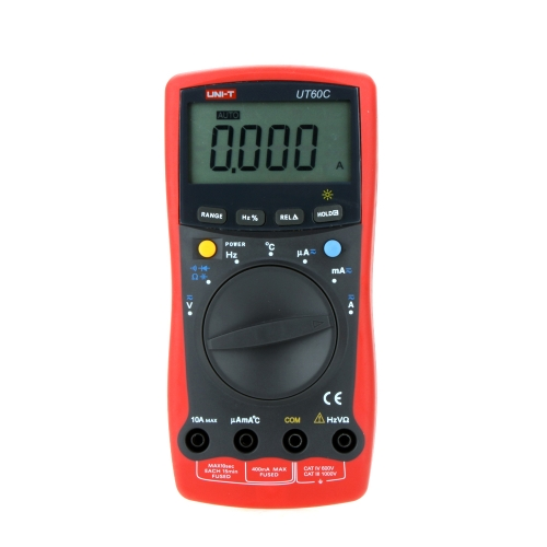 UNI-T UT60C Modern LCD Backlight DMM Digital Multimeters W/ Temperature Test