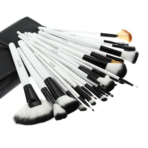 36Pcs древесины макияж кисти комплект профессиональных косметических составляют набор + сумка чехол