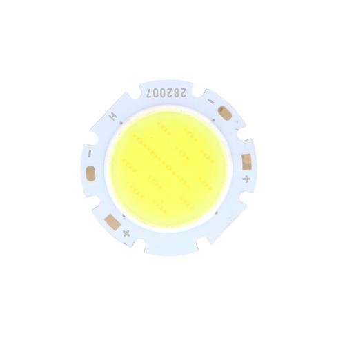 7W раунд COB супер яркий светодиодный чип света лампа белая DC16-24V