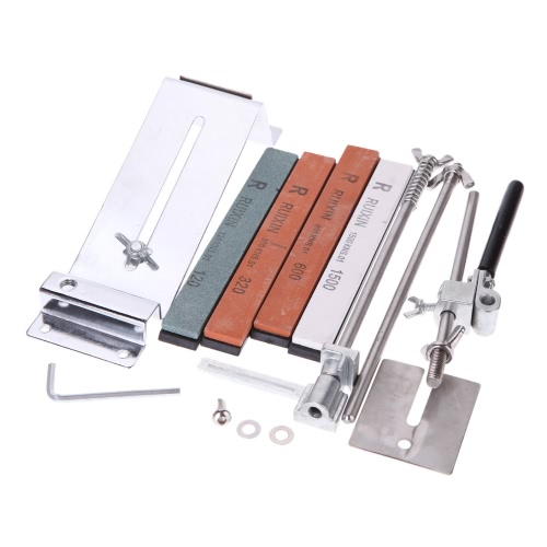 Upgraded Fixed-angle Knife Sharpener Kit Full Metal Stainless Steel Professional 4 Sharpening Stones