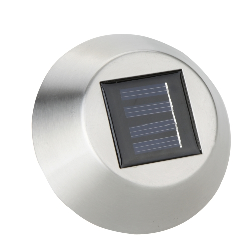 Solar Power Outdoor Garden Stainless Steel LED White Light Lamp Landscape Lawn Path Yard Park Cube Cover