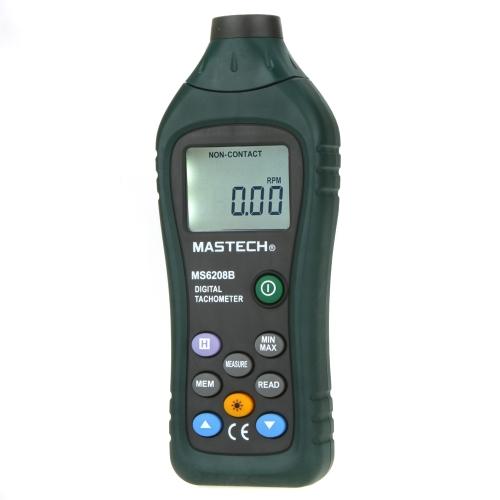 MASTECH MS6208B Pocket Size 50~99999RPM Non-Contact Digital Tachometer w/ 100 Groups Data Loggings