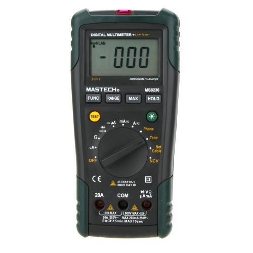 MASTECH MS8236 NCV Auto Ranging DMM Digital Network Multimeters