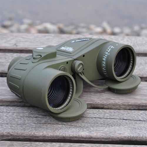 10X50 396FT/1000YDS Deporte Militar Óptica Telescopio Binocular Telescopio con el compás para la caza que acampa yendo Viajar Concierto impermeable a prueba de golpes