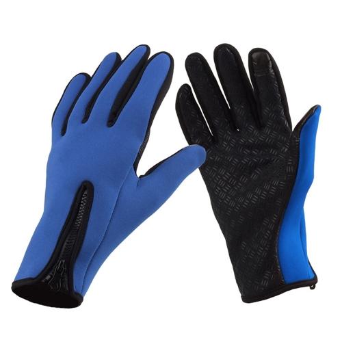 屋外防風冬暖かい暖かいタッチスクリーンのシリコーン手袋