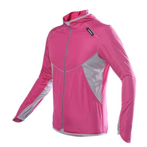 Мужчины женщины Спорт Джерси Раннинг Велоспорт велосипедов ветрозащитный рукав пальто куртка одежда с капюшоном случайных влагостойкая