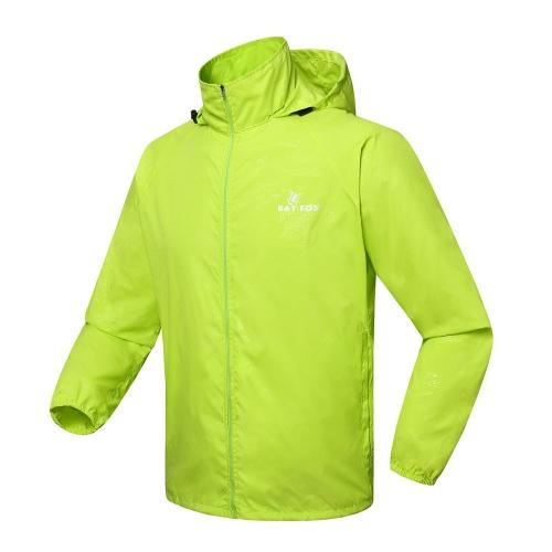 サイクリング自転車防風袖コート ジャケット服フード付きカジュアルな耐水性を実行している男性女性スポーツ ジャージ春秋