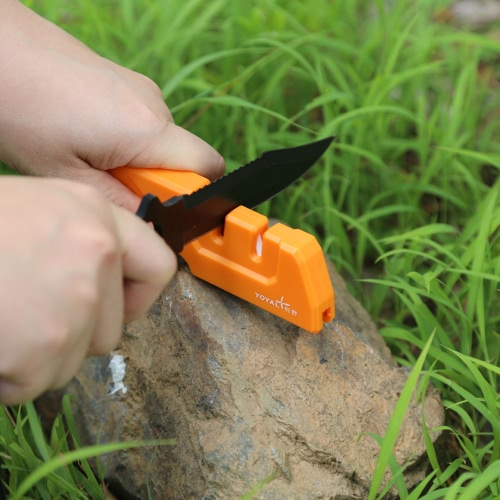 TAIDEA Multifunction Knife Sharpener Hard Carbide Ceramic Sharpening Stone Portable Outdoor Tool T1055TDC
