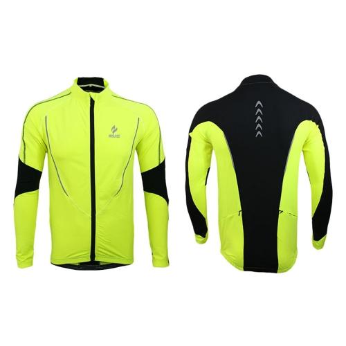 Arsuxeo  Outdoor Sport Kleidung  Langarm Trikot Winter Warm Fleece Jacke  für Running Fitness Übung Radfahren Bike