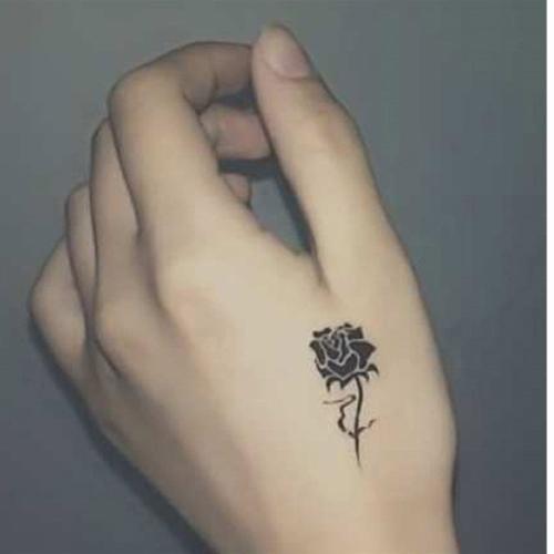 Татуировка стикер роз узор водонепроницаемый временную татуировки боди-арт бумага