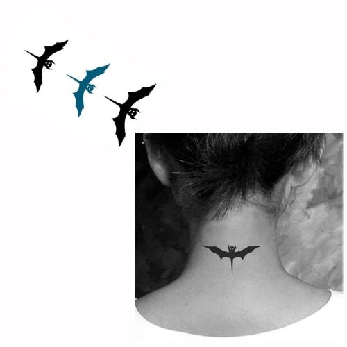 Татуиров летучие мыши шаблон Водонепроницаемый Временные татуировки бумаги боди-арт
