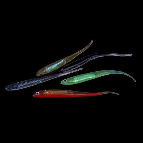 Lixada 3D Arcobaleno Aguglia Esche/ Attrezzatura di pesca/ esca per pescare/ esche da pesca/ morbido Bait con embedded Foglio Di Alluminio, 5 pezzi, 10cm, 3g
