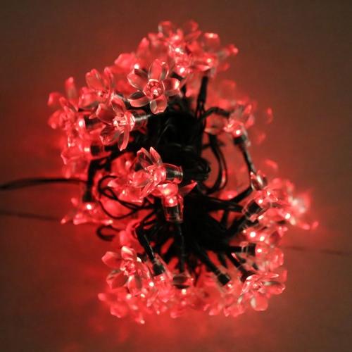 50 солнечное Кристмас строки света открытый фея цветок Blossom украшения Рождество свадьбы партии освещение сада