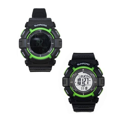 SUNROAD FR822B 3ATM Waterproof Altimeter Compass Stopwatch Barometer Pedometer Outdoor Sports Watch Multifunction