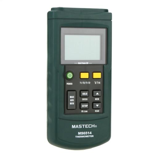Цифровой термометр MASTECH MS6514 Двухканальный датчик температуры
