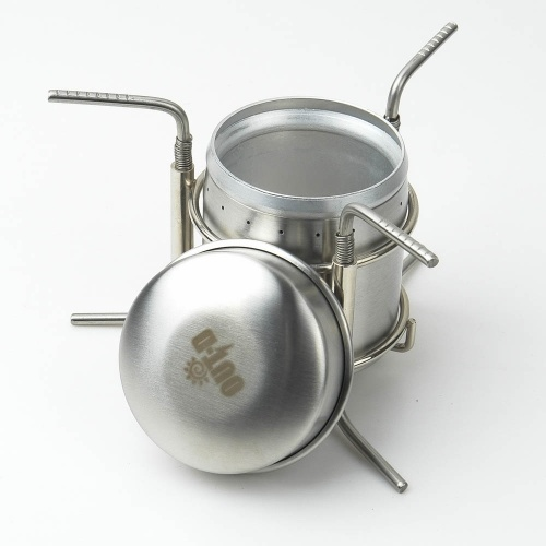 Docooler Stainless Steel Portable Mini Ultra-light Spirit Burner Alcohol Stove Outdoor Camping Stove Furnace with Stand B-1