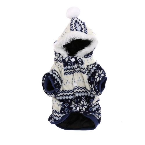 Мягкий теплый собака Pet Одежда Одежда пальто толстовка с капюшоном для зимы