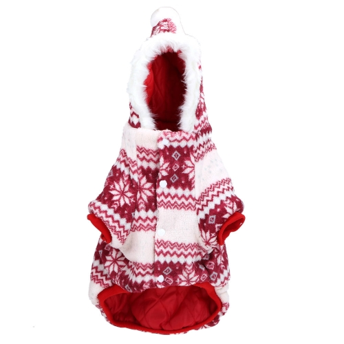 Soft Warm Dog Pet Clothes Apparel Hoodie Hooded Coat for Winter