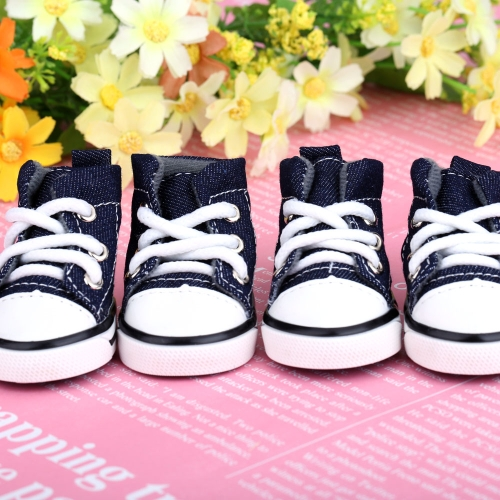 Lovely Casual Style Denim Canvas Pet Dog Boots Shoes