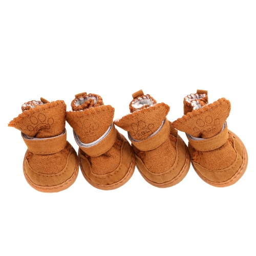 Lovely Soft Cotton Nylon Fastener Tape Pet Dog Boots Shoes