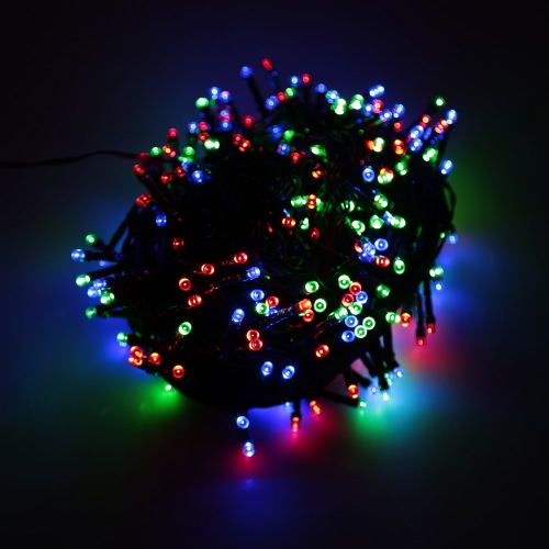 RGB 100 LED Christmas String Light Odkryty Dekoracje Fairy Xmas Tree Wedding Holiday Party Ogród Kolorowe USB DC 5V