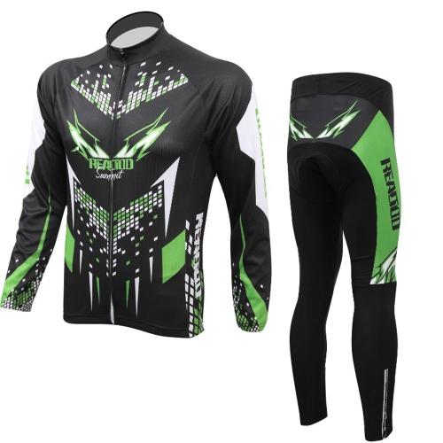 Ciclismo Abbigliamento Sportswear Set biciclette bici all'aperto maniche lunghe maglia + pantaloni uomo traspirante