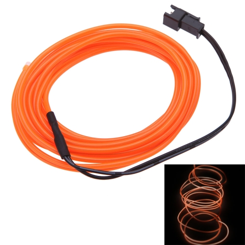 3M Flexible Neon Light Glow EL Wire Car Rope with DC12V Car Charger Driver