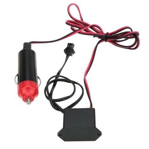 3M Гибкий неон Свечающий EL Проводный  Автомобилей Кабель с DC12В Автомобильное зарядное устройство Привод