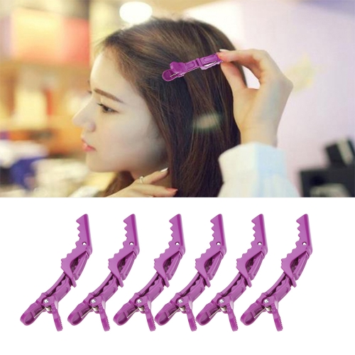 Anself 6Pcs Sectioning Clips Clamps Hairdressing Salon Hair Grip Crocodile DIY Accessories Hairpins Plastic