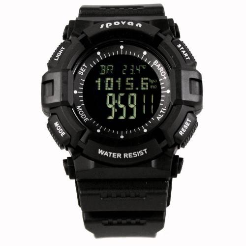 3ATM wasserdichte Sport Spovan Klingen Ⅳ Multifunktions Outdoor Digitaluhr Thermometer Barometer Höhenmesser Wettervorhersage Stoppuhr