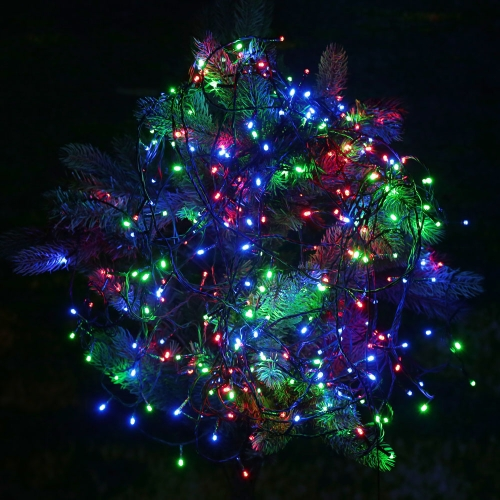 RGB 500 LED Christmas String Light Odkryty Dekoracje Fairy Xmas Tree Wedding Holiday Party Ogród Kolorowe USB DC 5V